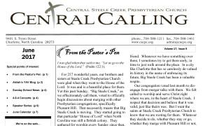 June 2017 Newsletter