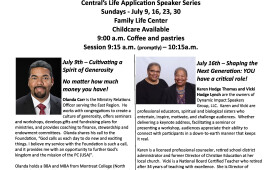 July Speaker Series