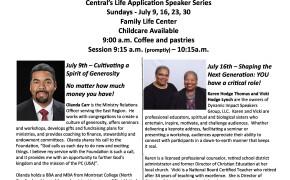 July Speaker Series
