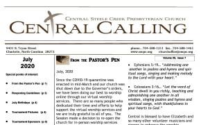 2020 July Newsletter